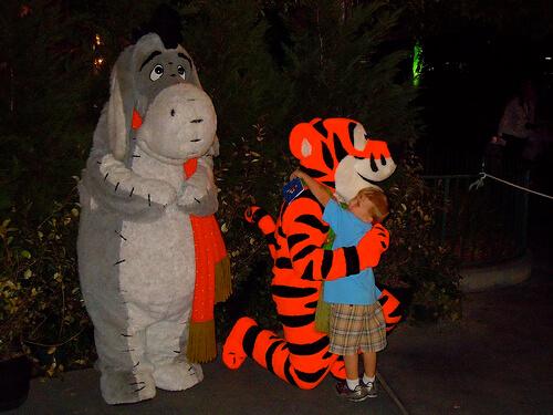 Eeyore and Tigger meet and greet