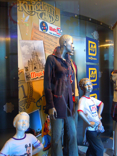 Walt Disney World 40th anniversary display and merchandise