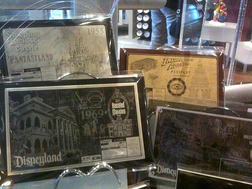 Imagineering Blueprint plaques - Haunted Mansion, Tower of Terror, Indiana Jones, Sleeping Beauty Castle