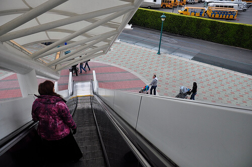 Disneyland Resort escalator