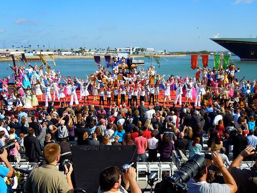 Huge group - Disney Dream Christening