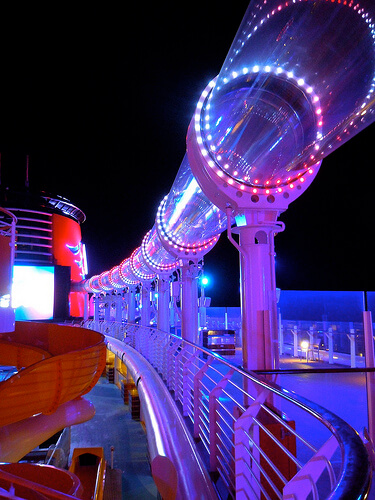 AquaDuck at night