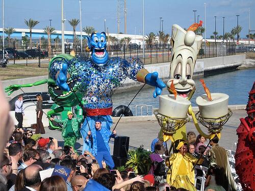 Lumiere and Genie - Disney Dream Christening