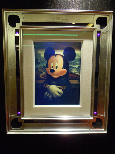 Disney Dream enchanted art - Minnie Mouse as Mona Lisa