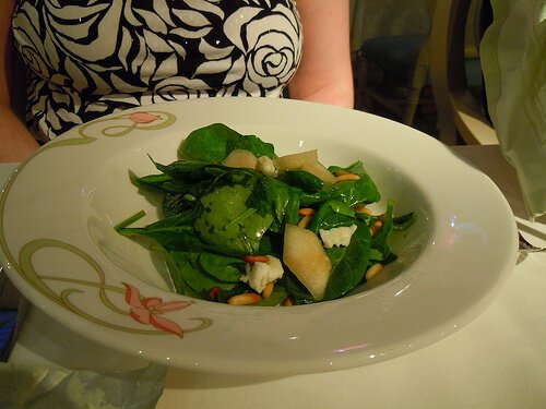 Spinach salad - Enchanted Garden