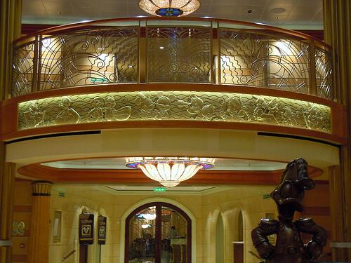 Lobby balcony character details - Disney Dream