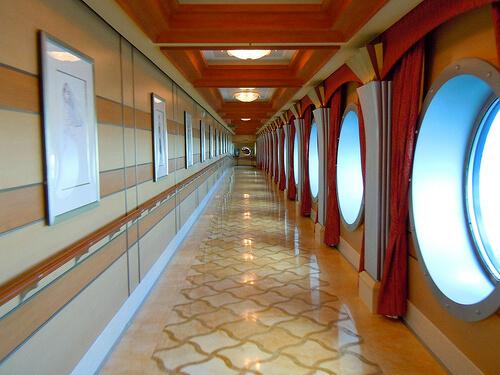Port hole hallway - Disney Dream
