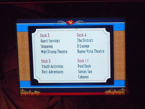 Elevator screen - Disney Dream