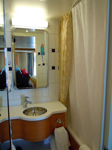 Deluxe Veranda state room, Shower - Disney Dream