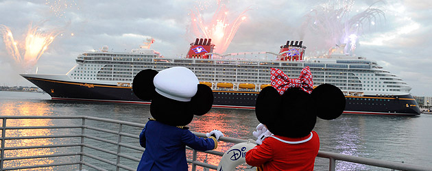 Disney Dream cruise ship arrives in style at Port Canaveral, Florida