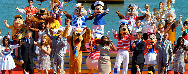 Disney Dream christening packs dancers, singers, and characters into