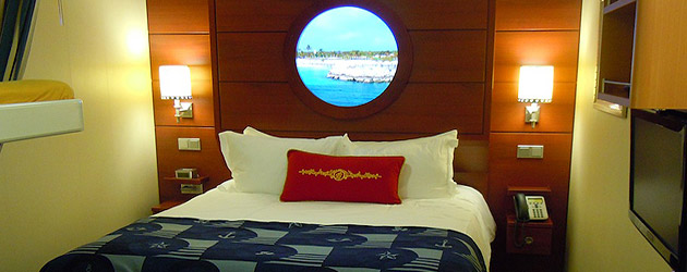 Disney Dream offers a variety of state rooms with ample space and magical views for a cruise out to sea