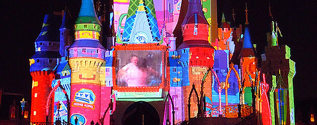 "Video: ""Magic, Memories, and You!"" show premieres projected onto Cinderella Castle at Walt Disney World's Magic KIngdom"