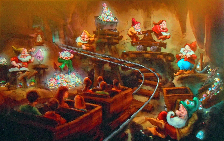 7 dwarfs mine train coaster