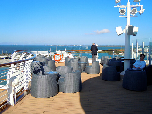 Adults only deck seating - Disney Dream