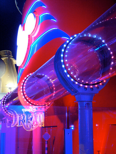 AquaDuck at night - Disney Dream