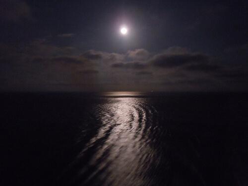 Moon over the ocean - Disney Dream