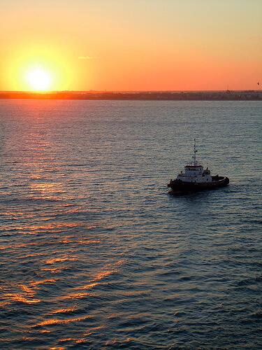Ocean sunset - Disney Dream