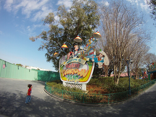 Mickey's Toontown Fair sign