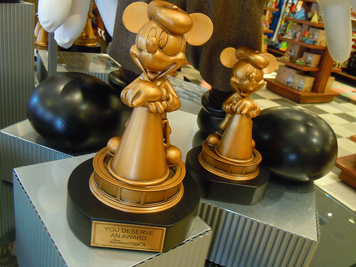 Mickey award statues