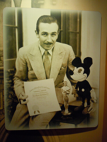 Walt Disney and an Oscar