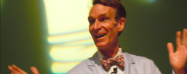 Video: Bill Nye the Science Guy plays with fire during National Engineers Week presentation at Epcot's Innoventions in Walt Disney World