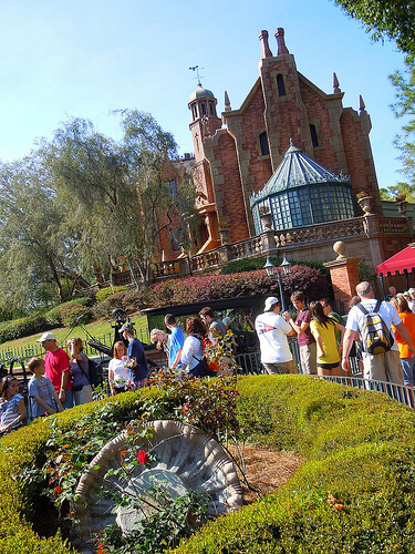 Haunted Mansion interactive queue