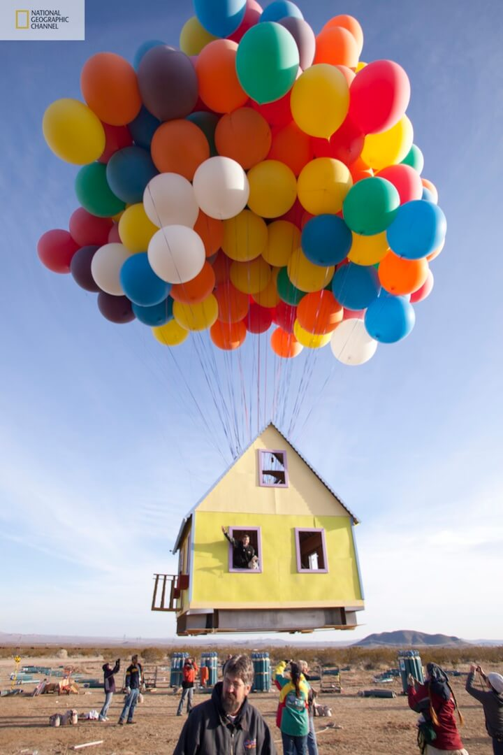 Floating house from Disney/Pixar's 'Up' created in real ...