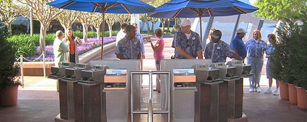 Walt Disney World tests faster theme park entry barcode scanners in place of turnstiles at Epcot