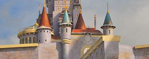 Behind-the-scenes look at Beast's castle, part of the New Fantasyland in the Magic Kingdom at Walt Disney World