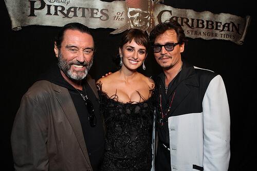 Ian McShane; Penelope Cruz; Johnny Depp