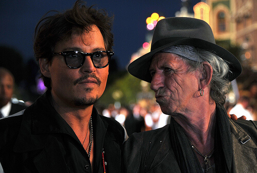 Johnny Depp; Keith Richards