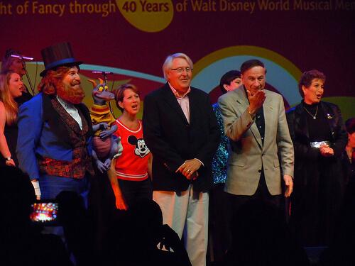 Dream Finder and Richard Sherman at Magic Journeys - Destination D: Walt Disney World