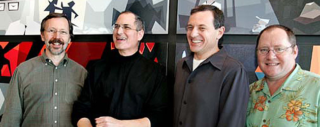Steve Jobs, co-founder of Apple and Pixar, and Disney's largest shareholder, dies at 56