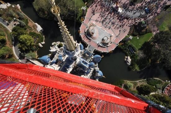 above Cinderella Castle
