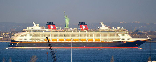 Disney Fantasy Cruise Ship Arrives In New York After Transatlantic - Transatlantic cruise ships