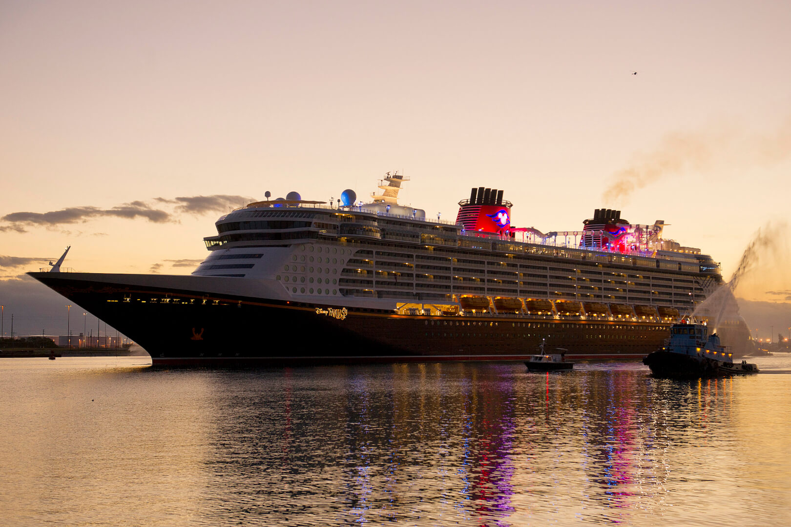 Disney Fantasy Cruise Ship Arrives In Port Canaveral