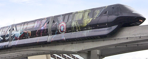 First Look: The Avengers monorail debuts at Walt Disney World on the Magic Kingdom express line