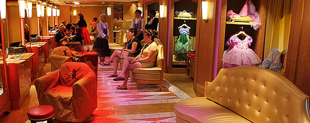 Disney Fantasy transforms Bibbidi Bobbidi Boutique into Pirates League by night, as guests become belles and buccaneers