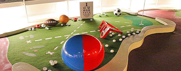 Goofy Sports offers mini golf and more deck activities for the whole family on the Disney Fantasy