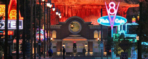 Video Preview: Cars Land glows after dark as Radiator Springs is radiantly lit by colorfully animated neon at Disneyland