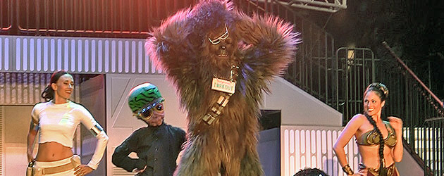 Video: Dance-Off with the Star Wars Stars 2012 has Chewbacca, Slave Leia groovin' to LMFAO at Walt Disney World