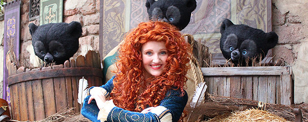 "Merida meet-and-greet debuts at Magic Kingdom with animated ""Brave"" bear cubs, archery lesson at Walt Disney World"