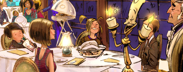 Be Our Guest Restaurant menu served up by Walt Disney World for upcoming 'Beauty and the Beast' section of New Fantasyland