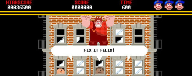 "Playable 8-bit 'Fix-It Felix Jr' game now on official ""Wreck-It Ralph"" web site from Walt Disney Animation Studios"