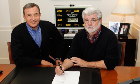 Disney Lucasfilm purchase (George Lucas & Bob Iger)