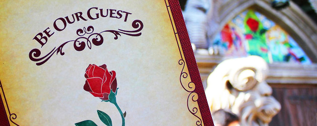 Inside the Be Our Guest restaurant as Walt Disney World dishes up a detailed New Fantasyland preview, but no food yet