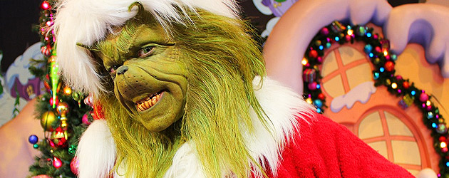 Making of Universal Orlando Christmas, where the Grinch creates yuletide chaos and 'tricaloons' join Macy's Holiday Parade