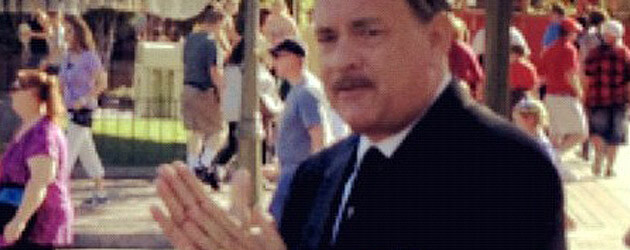 "Photo: First Look at Tom Hanks playing Walt Disney in Disneyland while filming for ""Saving Mr. Banks"""