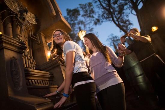 Teenagers having fun in Disneyland